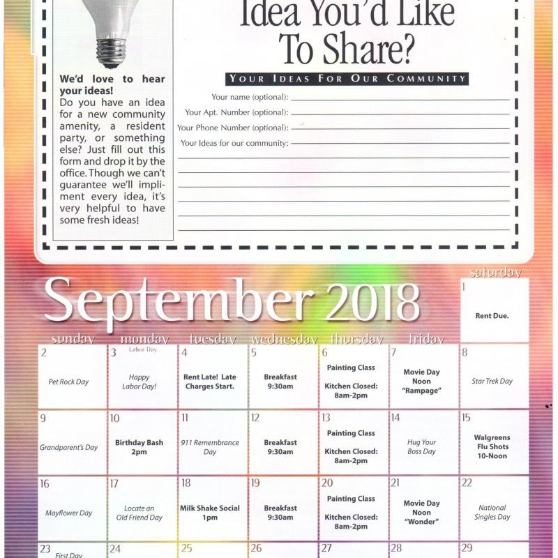 September's Newsletter